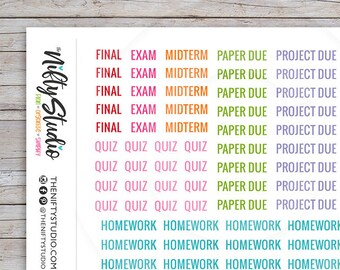Student Planner Stickers Etsy