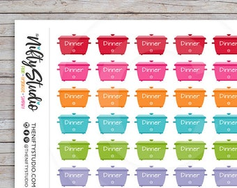 Crockpot Stickers | Meal Planning Stickers | Planner Stickers | The Nifty Studio [113]