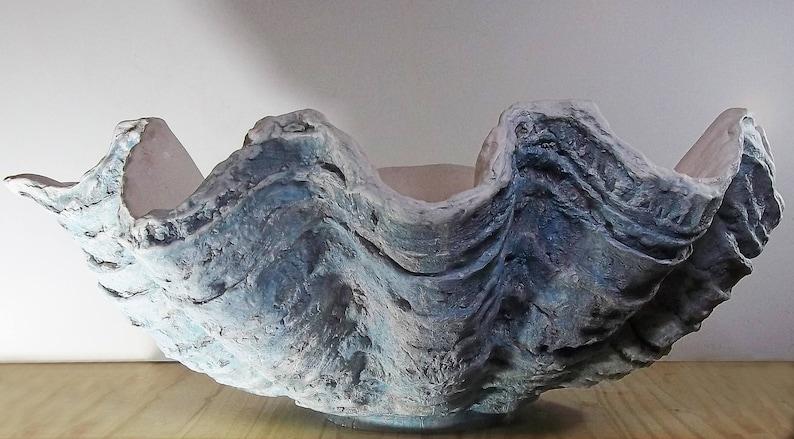 new Giant resin Clam Shell Sculpture Art Ornament Pearl Home Garden Decor Gift