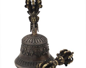 Tibetan monastery old pure copper pure hand-made monastery monks practice vajra drop magic bell and pestle