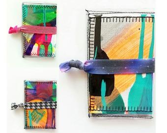 Hand Painted Wallet // Credit Card Holder // Vinyl Wallet // Art Gifts // Women's Wallet // Business Card Holder // Vegan Wallet