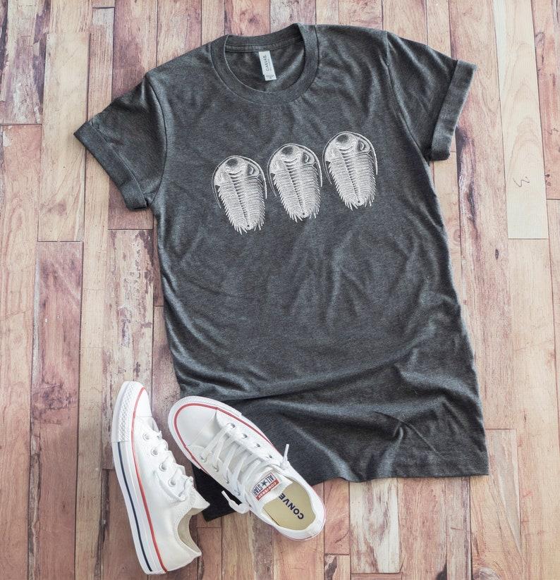 e52632d7d Trilobite Shirt Unisex Trilobites Gift Geology Tee Funny | Etsy
