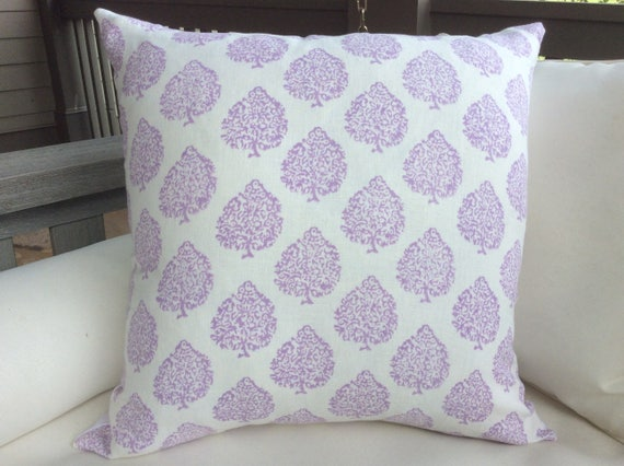 John Robshaw Fabric Mali In Lavender Pillow Covers