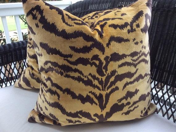 Scalamandre Le Tigre Pillow Cover in