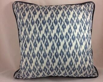 """Jim Thompson 100% thai silk """"Felicita"""" in blue thistle pillow cover"""