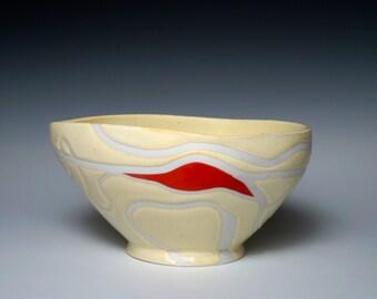 Porcelain Bowl, Setting Sun