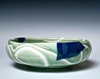 Unique Porcelain Bowl, Floating Free Celadon