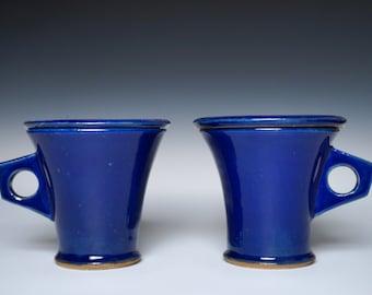 Blue Stoneware Lidded Mugs, My Kind Of Blue