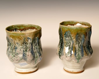 Stoneware Cups: Northern Lights