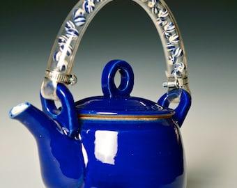 Blue Stoneware Teapot, Magical Blue