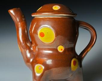 Unique Stoneware Teapot:  Reach For The Stars