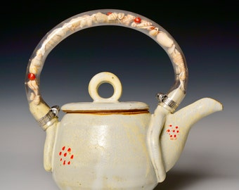 Handmade Stoneware Teapot: Tea by the Sea