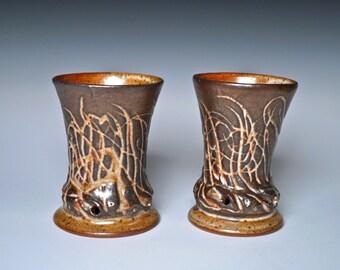 Stoneware Cup, Unique and Elegant