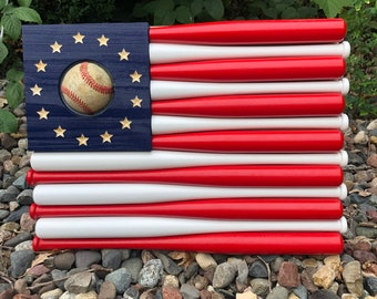 Epic Mini Baseball Bat American Flag for the Coolest, Most Bad @& Coach, Dad, or Man Cave Gift
