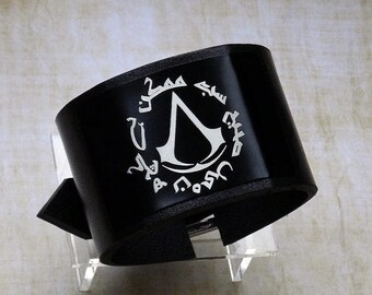 """Nothing Is True, Everything is Permitted Original Arabic phrase """" Assassin's Creed Codex """"  bracelet wrist / cuff"""