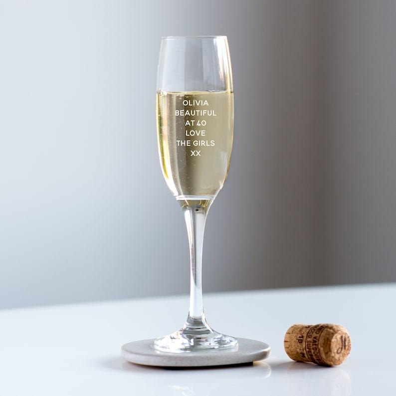 40e Anniversaire Champagne Glass Flûte Prosecco Personnalisée Cadeau Danniversaire Verre De Champagne Ohso1024 L1c1r L1c2c