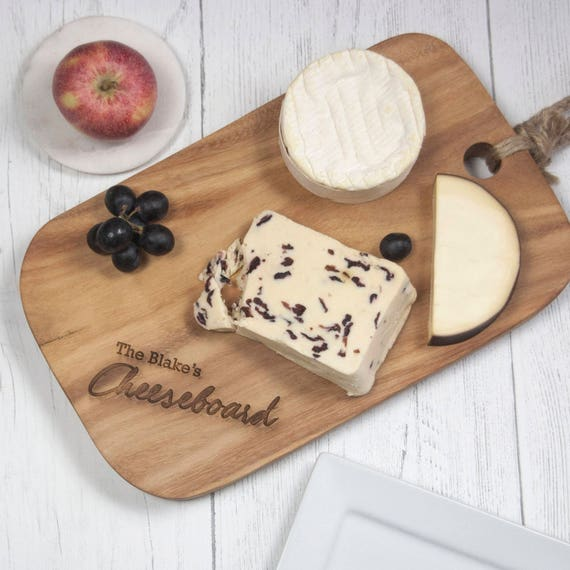 Personalized Cheeseboard, Acacia Wood Engraved Board, Name Cheese Board  (OHSO839) L3E1