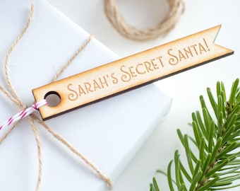Personalised Secret Santa Tag, Christmas Gift Tag, Xmas Wrapping (OHSO748)