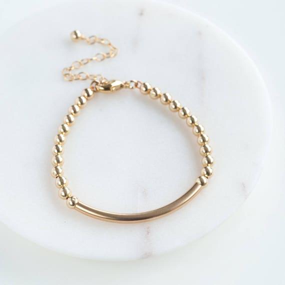 Gelb Gold Moderne Anhänger Taufe Armband In Personalisierte Geschenk Box Baby Armband Ohso55821