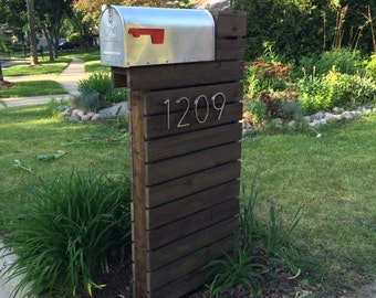 Modern Design Mailbox - Dark Walnut