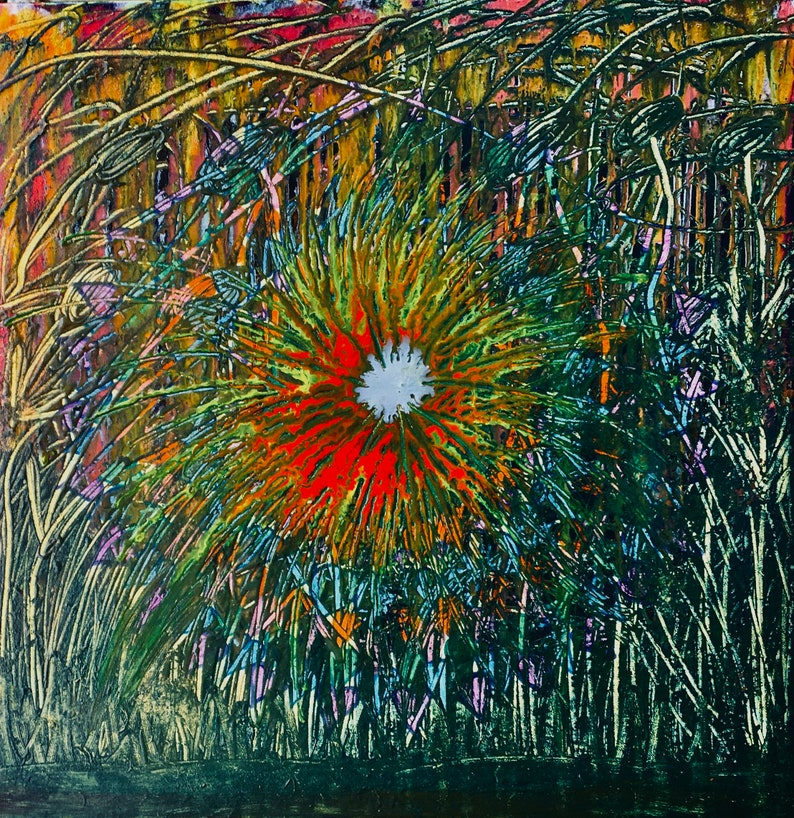 Easter SALE Scribble Explosion Art By Elly image 0