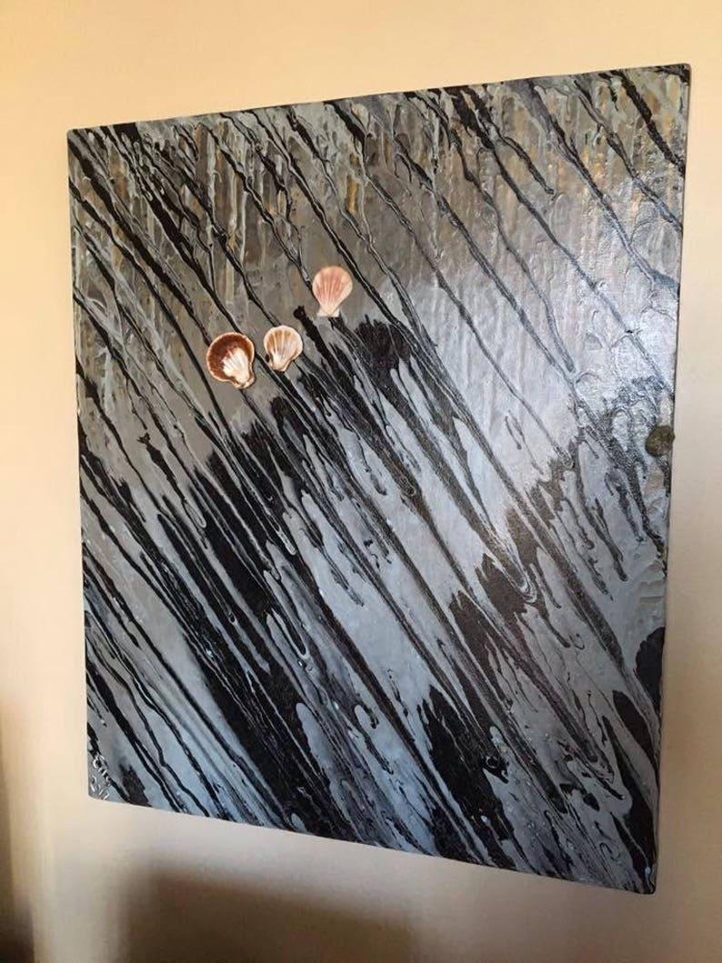 Easter SALE-3D Abstract Wall Art Sea Shells-Canvas Wall Art image 0