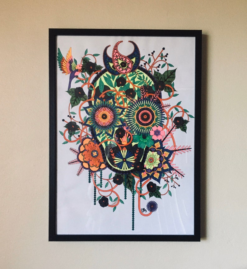 Easter SALE-Framed Art-Ready to hang art by Elly. image 0