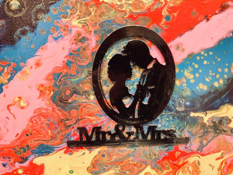 Mr & Mrs Wall Art Wedding Anniversary Gift image 0