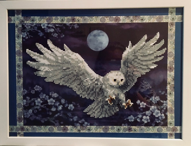 Whimsical Owl  5D Wall Art  Ready to hang Art Gift image 0