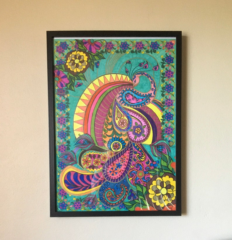 Easter SALE Framed Art by Elly Ready to hang. image 0