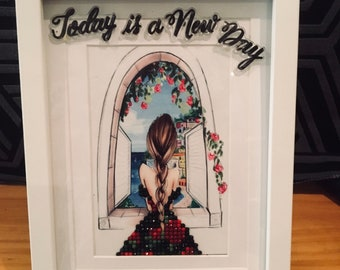 3D Diamond Art-Today Is A New Day - made by Elly