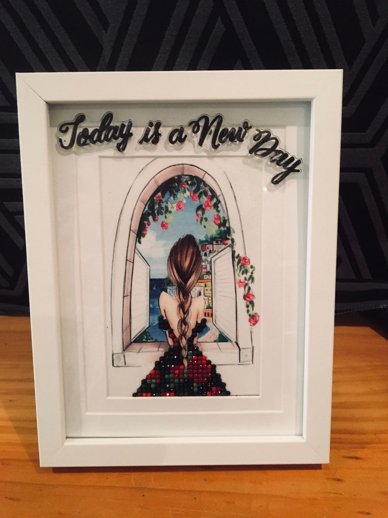 3D Diamond Art-Today Is A New Day  made by Elly image 0