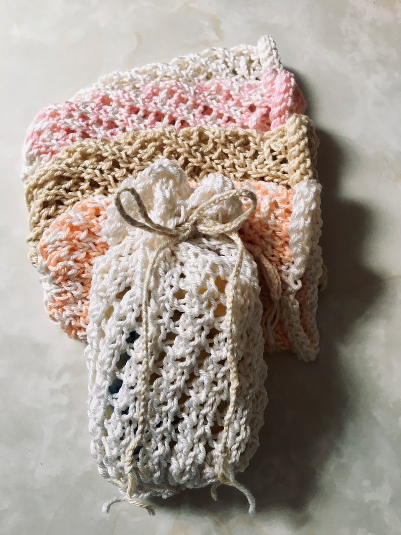 Soap in Soap Saver Bag Ego friendly-100% Cotton-Gifts image 0