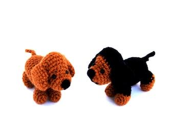 crochet dachshund, tiny stuffed pet, little amigurumi dachshund, tiny pet, crochet toy, little dachshund doll, cute gift for dog lovers