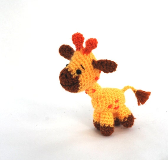 Amigurumi Giraffe Crochet Giraffe Miniature Giraffe Toy Etsy