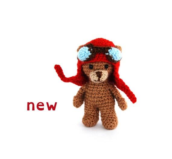 Funny Bear With Aviator Hat Etsy