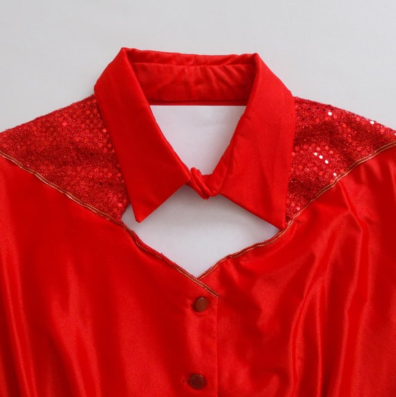 Vintage Women's Handmade Disco Western Shirt Cut O