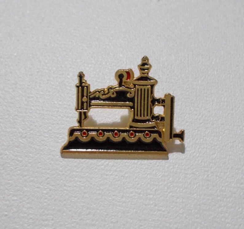 3b126c477 Clotilde Sewing Machine Pin 9 Goldtone Enamel Globe 1854 | Etsy