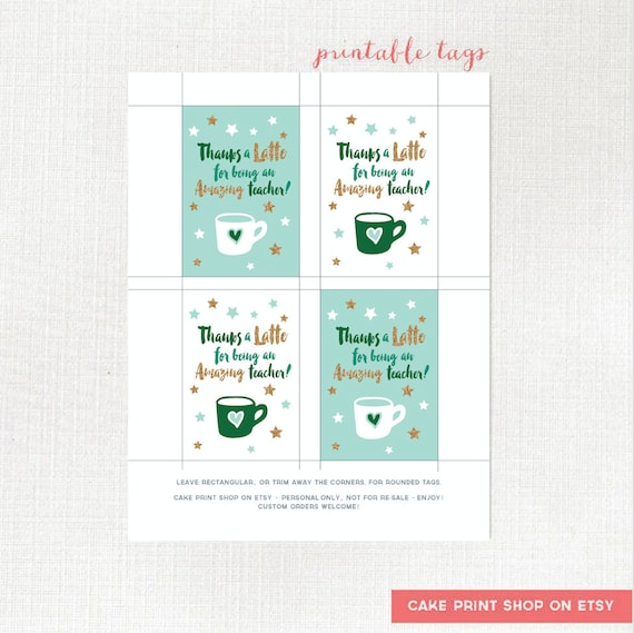 picture regarding Thanks a Latte Printable identify Owing a Latte instructor tag, printable instructor reward tag, Trainer Espresso card present tag, Trainer appreciation printable tag, espresso present tag