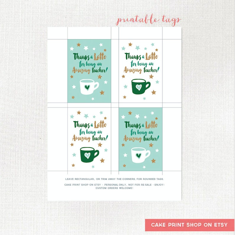 picture regarding Thanks a Latte Printable Tag known as Owing a Latte instructor tag, printable trainer present tag, Instructor Espresso card present tag, Instructor appreciation printable tag, espresso reward tag