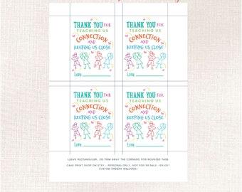 Thank you for helping us grow, Teacher Thank you from a distance tag, porch Teacher appreciation tag, Teacher gift, Teacher flower pot tag