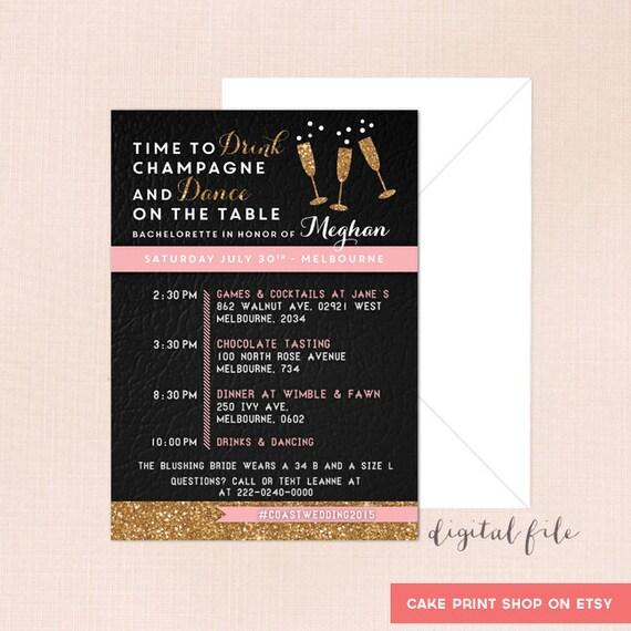 Personnalisé bridal shower invitation inc enveloppes.