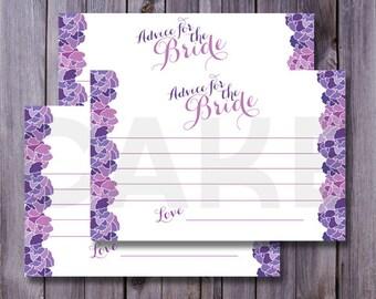 Bride Advice Cards, Advice for the Bride, Printable Advice cards, Wedding Shower ideas, Wedding shower printables, bride to be printable