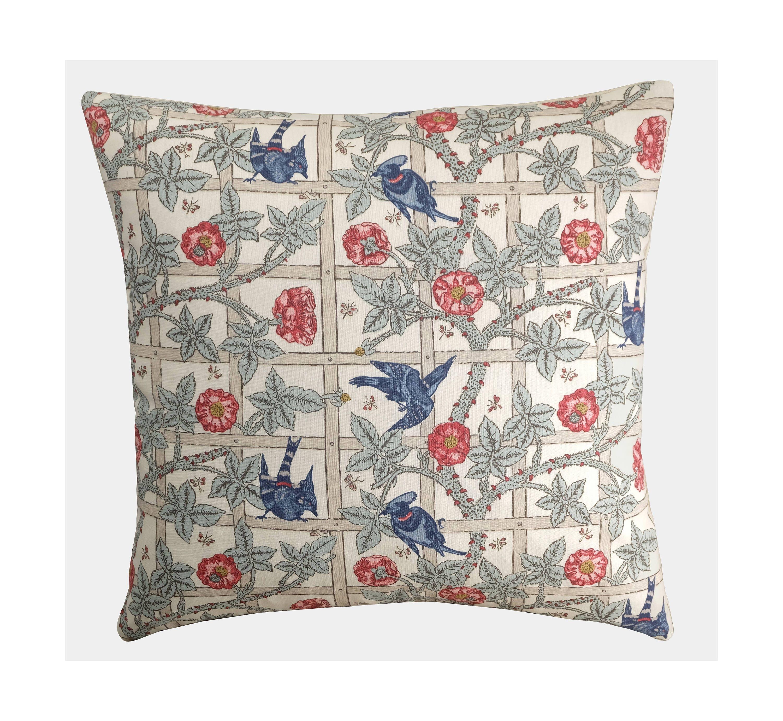 William Morris Trellis: William Morris 'Trellis' Cushion Bird & Floral Pillow