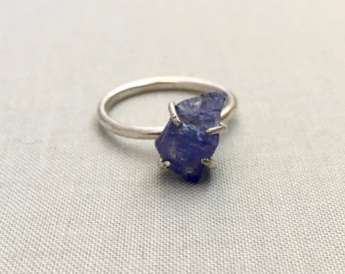 Catalina Ring - Tanzanite / California Collection // raw tanzanite ring, sterling silver, boho jewelry, raw gemstone ring, blue crystal ring