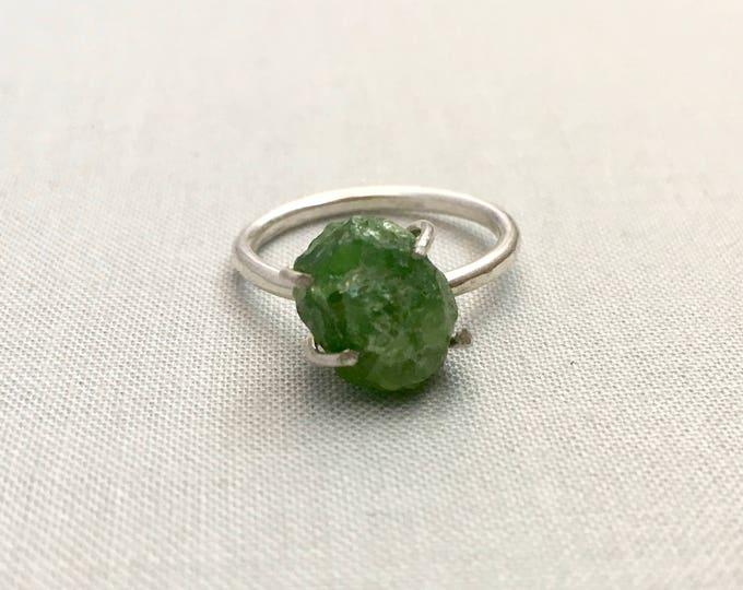 Catalina Ring - Green Garnet / California Collection