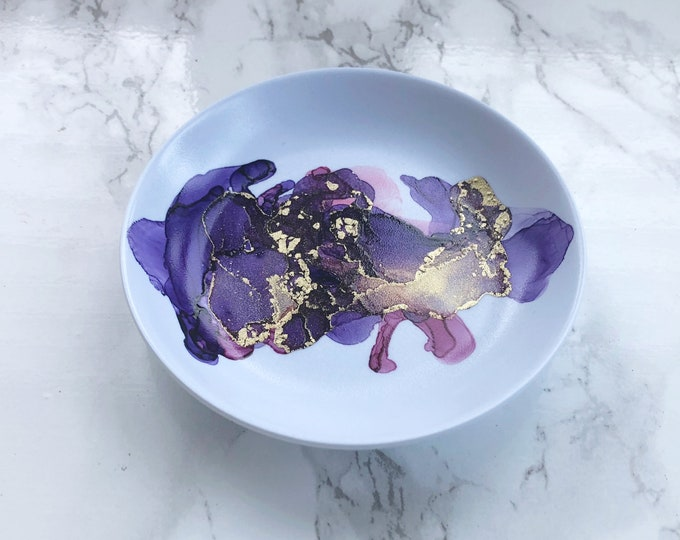 Purple Watercolor Ring Dish