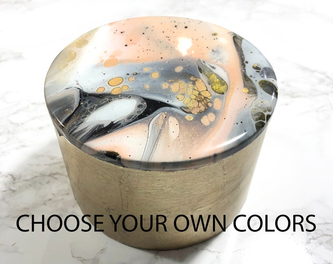 CUSTOM Marbled Trinket box