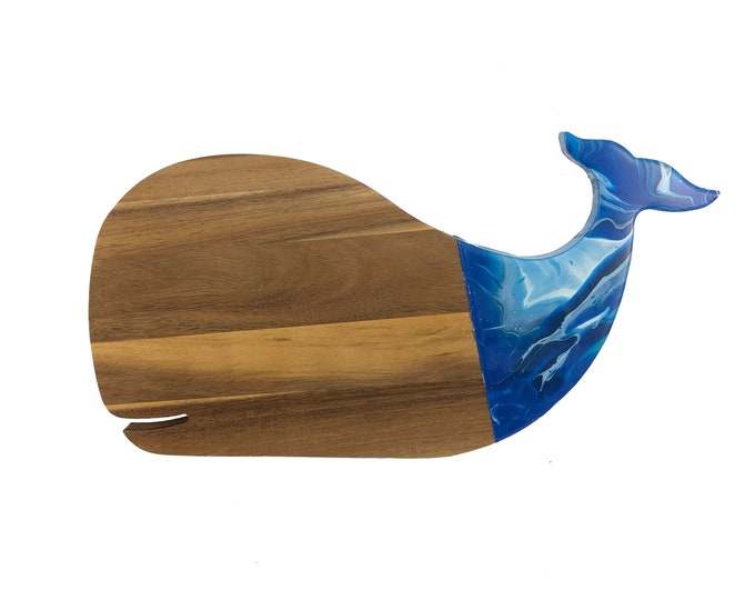 Whale Shaped Marbled Cheese Board