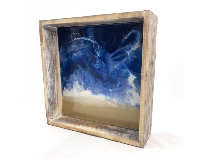 Framed Resin Beach Painting